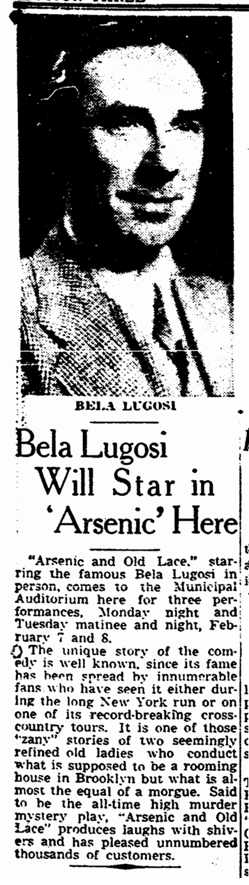Arsenic and Old Lace, The Times-Picayune, January 23, 1944