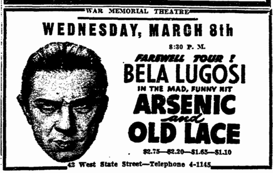 Arsenic and Old Lace, Trenton Evening Times, February 28, 1944