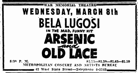 Arsenic and Old Lace, Trenton Evening Times, March 2, 1944