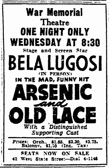 Arsenic and Old Lace, Trenton Evening Times, March 6, 1944