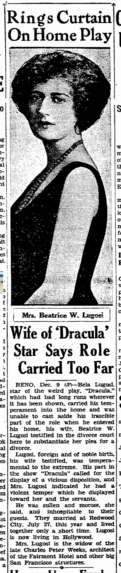Beatrice Weeks, San Francisco Chronicle, December 10, 1929