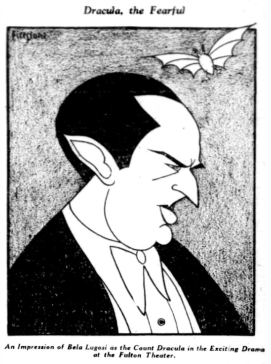 Bela as Dracula at the Fulton Theatre