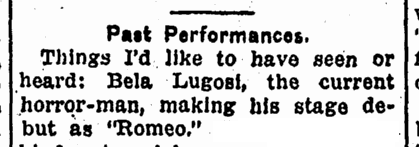 Bela Lugosi, Advocate, December 18, 1935