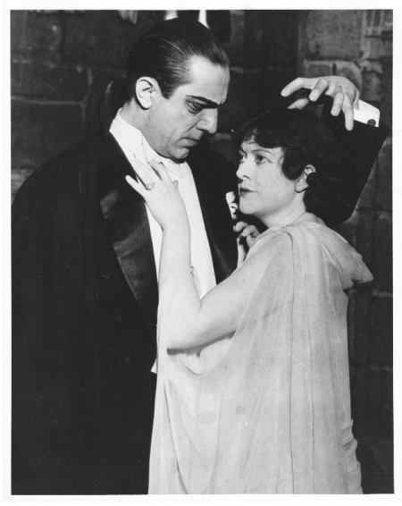 Bela Lugosi and Hazel Whitmore in the 1928 West Coast stage tour of DRACULA