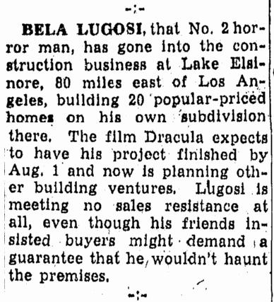 Bela Lugosi, Canton Repository, June 22, 1948