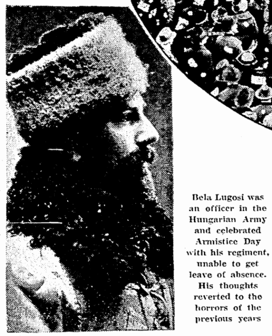 Bela Lugosi, Seattle Daily Times, November 8, 1931