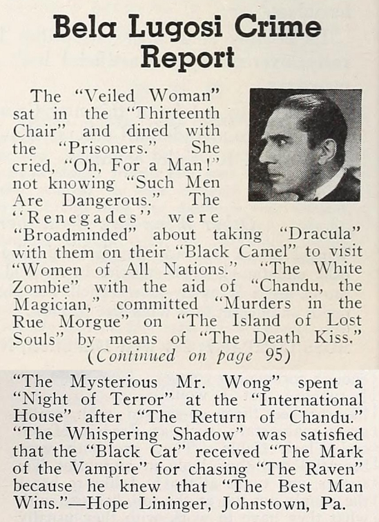 Between You & Me, Modern Screen December 1935