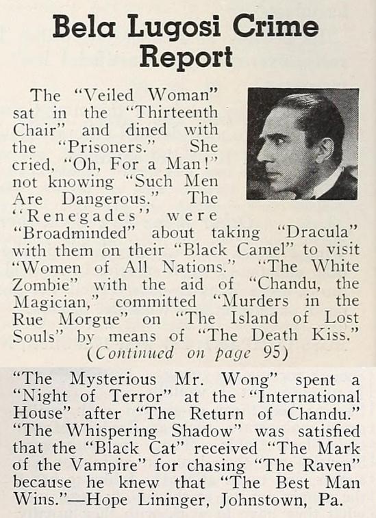 Between You & Me, Modern Screen December 1935