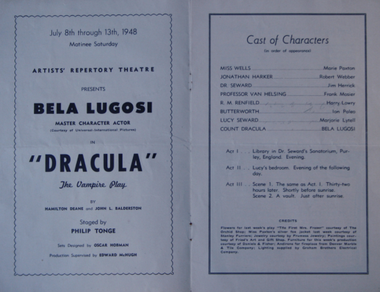 Dracula at the Phipps Auditorium 1