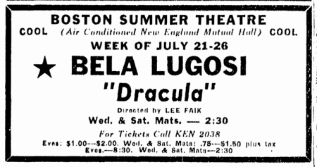 Dracula, Boston Herald, July 20, 1947