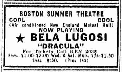 Dracula, Boston Herald, July 22, 1947 1