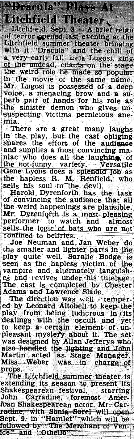 Dracula, Litchfield, April 4, 1947