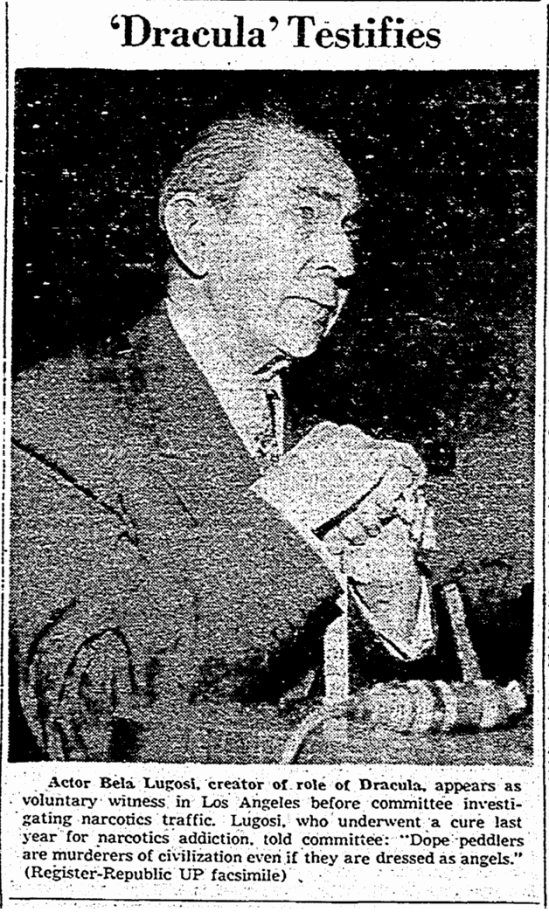 Drug testify, Rockford Register-Republic, November 16, 1955
