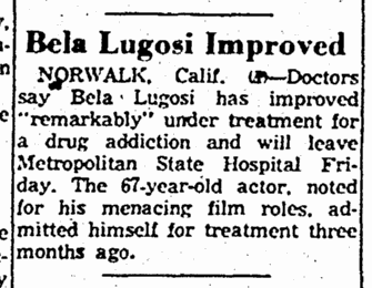 Drug Treatment, The Rockford Morning Star, August 3, 1955