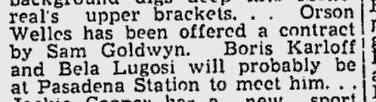 Lugosi, The Montreal Gazette, November 21, 1938