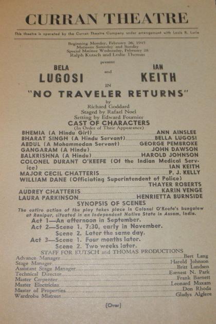 No Traveller Returns Curran Theatre 4