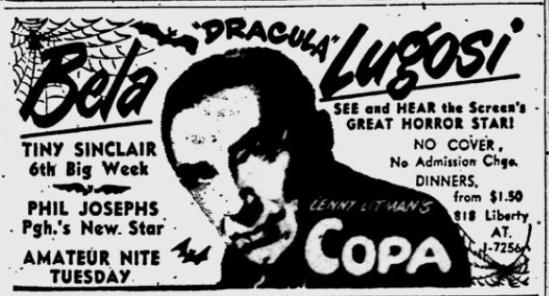 Pittsburgh Post-Gazette ad, February 13, 1950