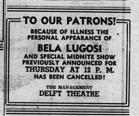 Tell Tale Heart, Delft Theatre, Munsing, December 3, 1947 2