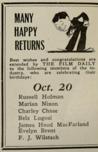 The Film Daily October 20, 1930