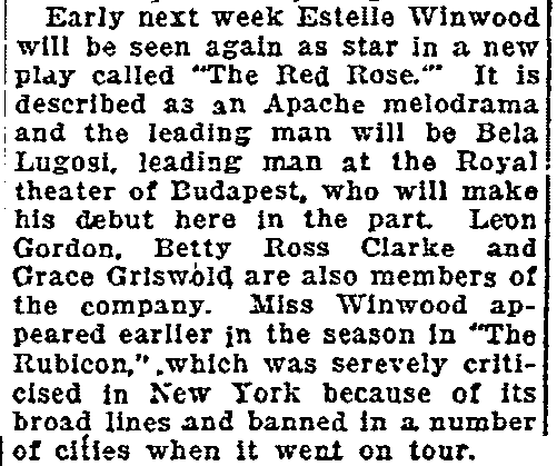The Red Poppy, Oregonian, December 24, 1922