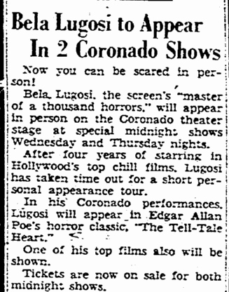 The Tell-Tale Heart, The Rockford Register-Republic, November 15, 1947