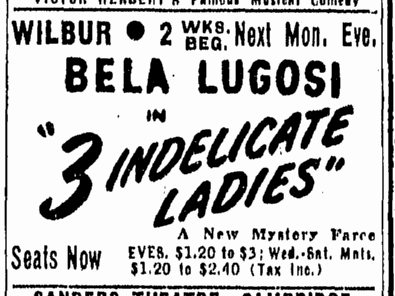 Three Indelicate Ladies, Boston Herald, April 11, 1947
