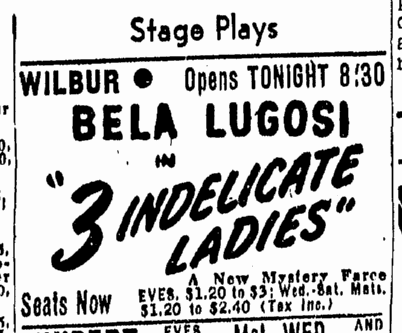 Three Indelicate Ladies, Boston Herald, April 14, 1947