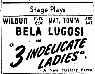 Three Indelicate Ladies, Boston Herald, April 15, 1947