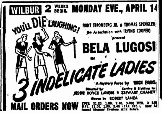 Three Indelicate Ladies, Boston Herald, March 30, 1947