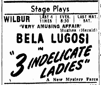 Three Indelicate Ladies, Boston Sunday Herald, April 17, 1947