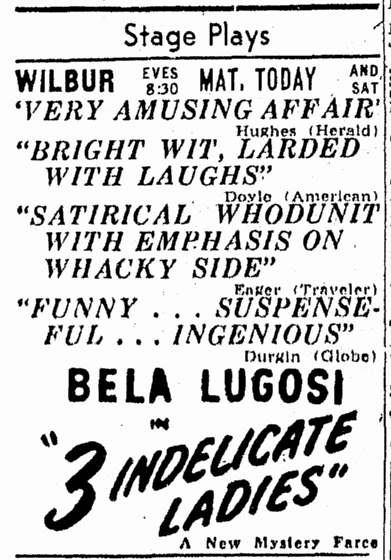 Three Indelicate Ladies, Boston Traveler, April 16, 1947