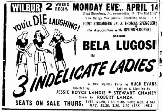 Three Indelicate Ladies, Boston Traveler, April 7, 1947