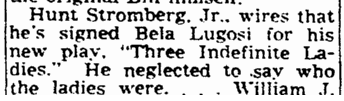 Three Indelicate Ladies, The Times-Picayune, February 13, 1947