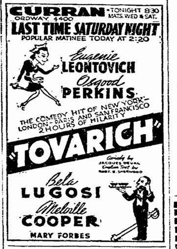 Tovarich, San Francisco Chronicle, April 14, 1937 3