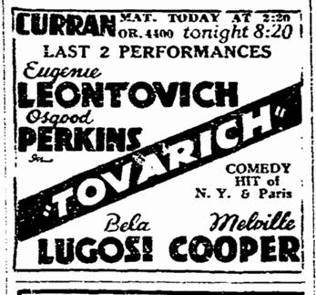 Tovarich, San Francisco Chronicle, April 17, 1937 2