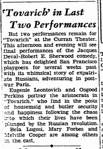 Tovarich,San Francisco Chronicle, April 17 1937 2