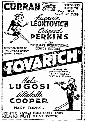 Tovarich, San Francisco Chronicle, March 30, 1937 2