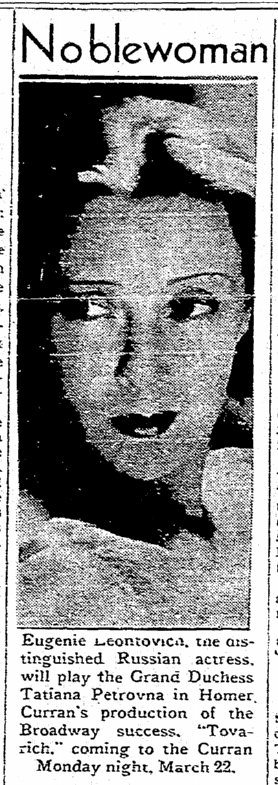 Tovarich, San Francisco Chronicle, March 5, 1937 2