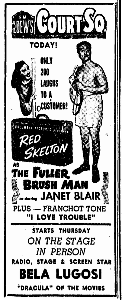 Vauderville, Springfield Union, September 13, 1948 2