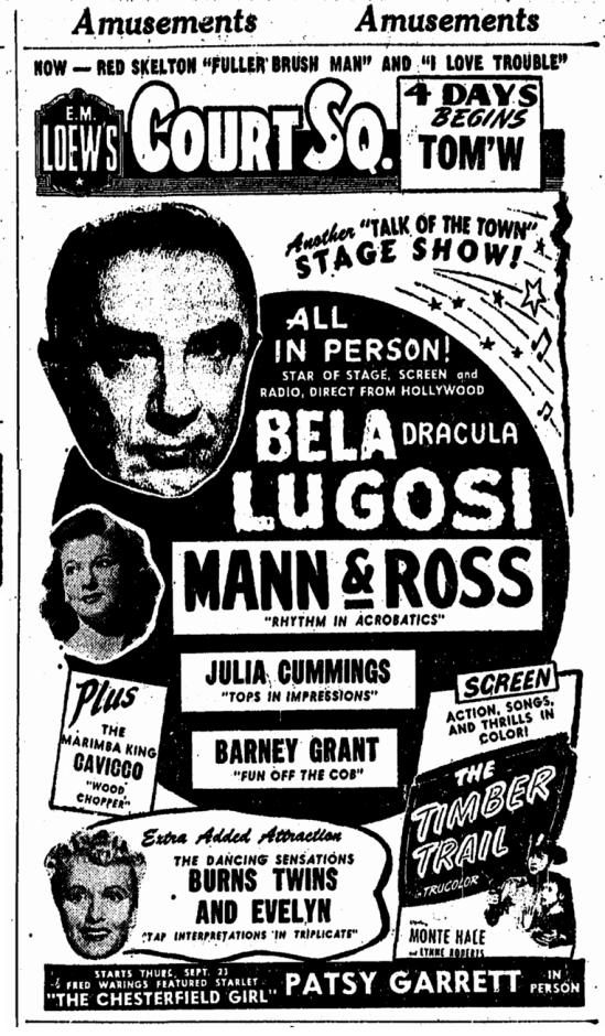 Vauderville, Springfield Union, September 15, 1948 2