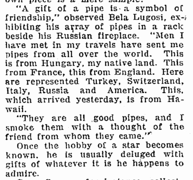 What The Hobby-Hunying Stars Accumulate,  Seattle Daily Times, December 6, 1931