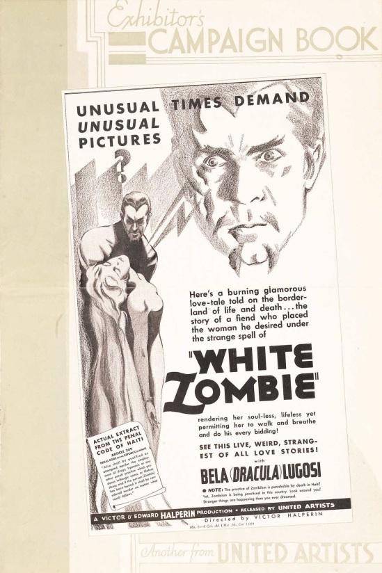 White Zombie Pressbook 1