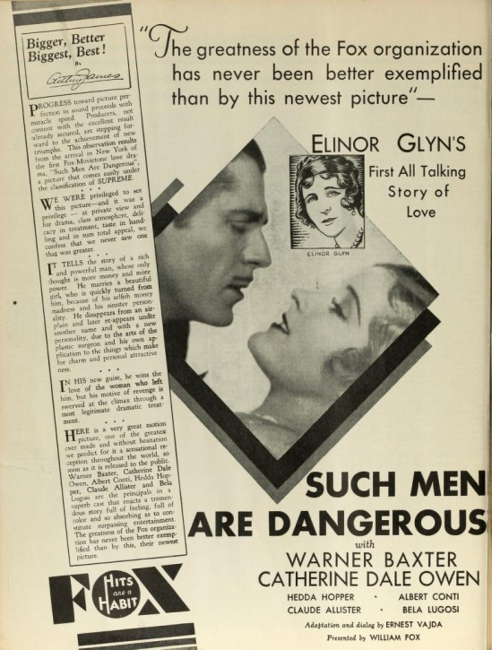 Such Men Are Dangerous, The Film Daily Feb 10, 1930