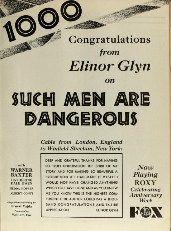 Such Men Are Dangerous, The Film Daily  March 9 1930