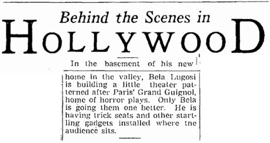 Bela Lugosi, The Times-Picayune, November 28, 1939