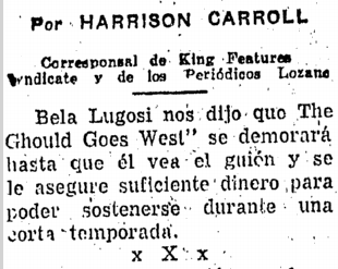 The Ghoul Goes West, Prensa, October 10, 1955