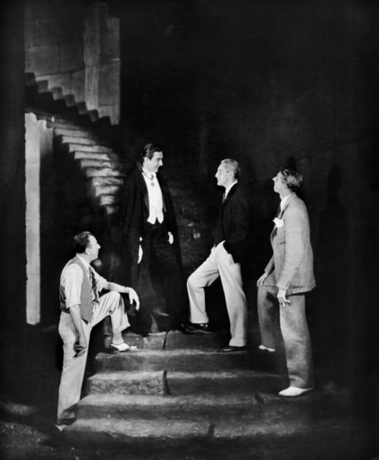 Tod Browning, Bela Lugosi, Horace Liveright, and Dudley Murphy