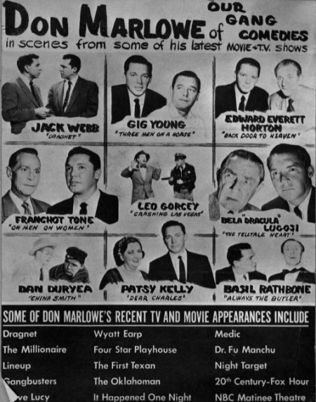 Don Marlowe promotional poster