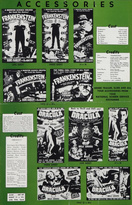 Dracula Frankenstein 1951 Pressbook 2