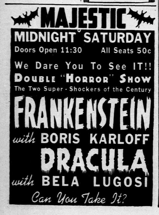 Dracula Frankenstein, Dallas Morning News, October 28, 1938 2